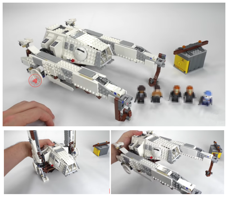 New Star fighter Series Imperial AT-Hauler fit legoings star wars figures city Building Blocks Bricks set Toy 75219 diy kid Gift