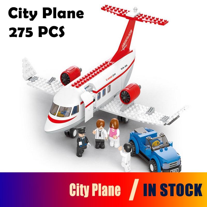 0365 Model building kits compatible with lego City Plane 3D blocks Educational model & building toys hobbies for children
