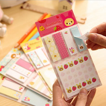 20pcs/lot Kawaii Cute Rilakkuma Sticky Notes Stickers Notepads Stationery Papelaria Planner Memo Pad Student Gift Message Leave(China)
