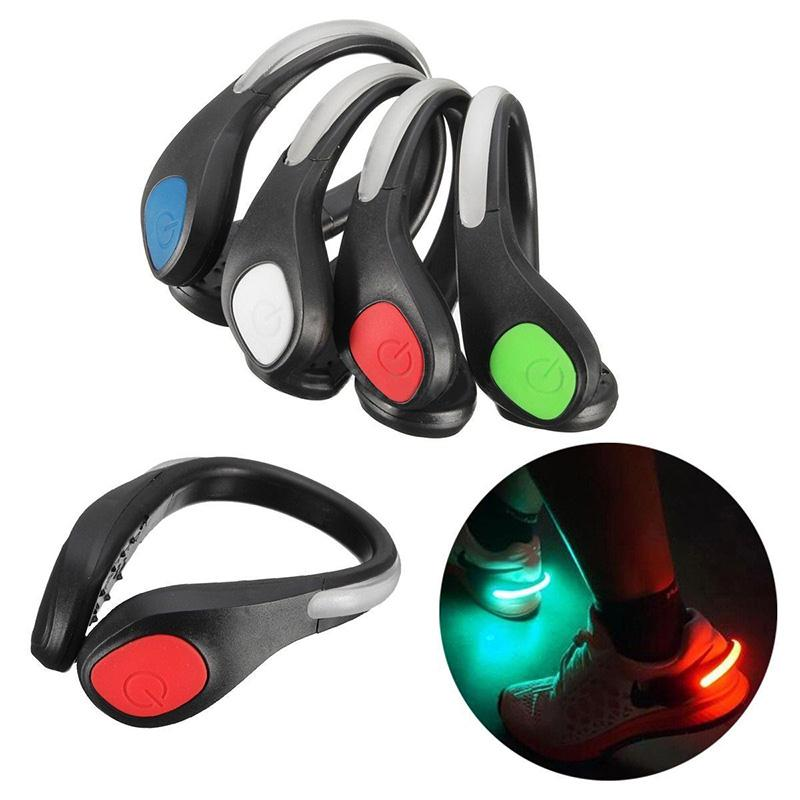 Viagdo LED Luminous Shoes Clip Night Safety Shoe Light Warning Reflector Flashing Lights B