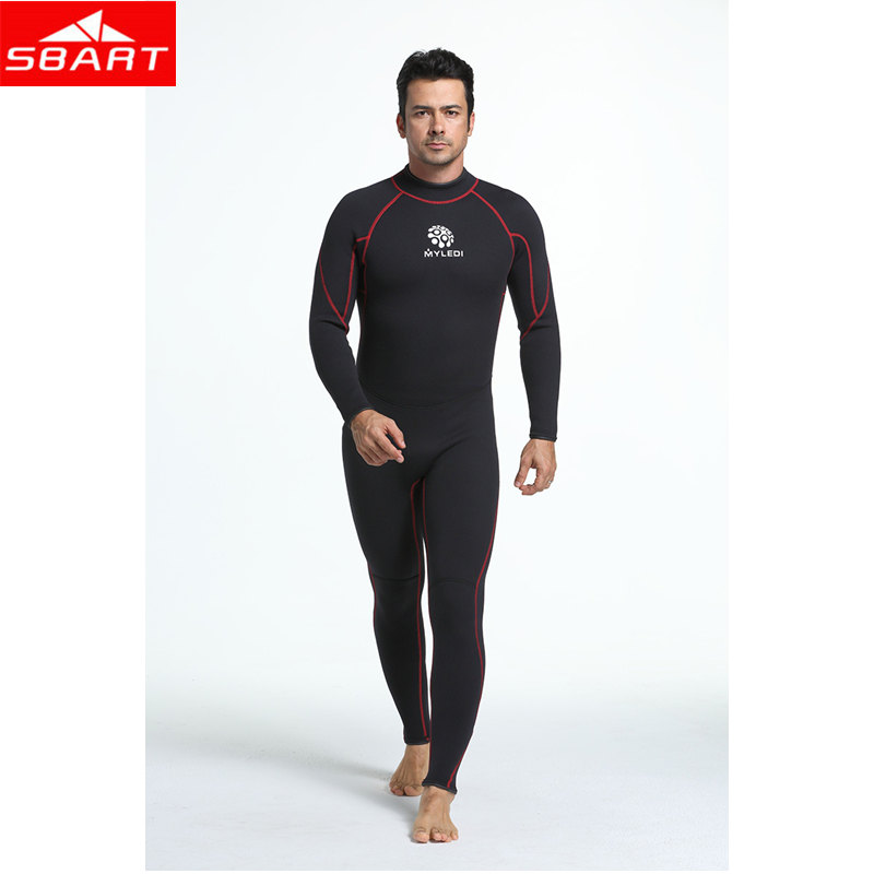 SBART Men 3mm Neoprene Scuba Dive Wetsuit For Men Spearfishing Wet Suit Surf Equipment Keep Warm One-piece Swim Diving Wetsuits