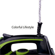 Adjustable steam iron self-cleaning ceramic coated
