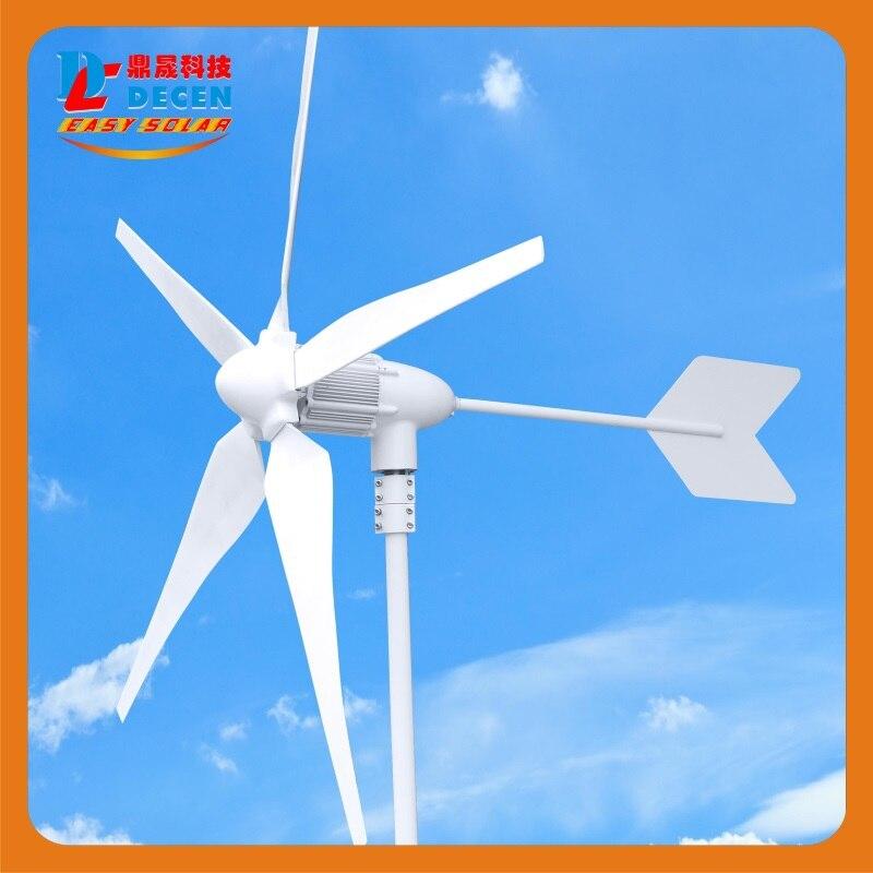 MAYLAR @ 600 W générateur de vent haute efficacité petite taille faible poids. Certificat CE à 5 lames facile à installer