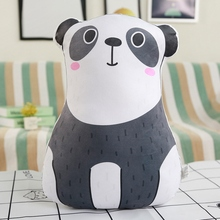 цена Hot 1pc 40cm Cartoon Animal Stuffed Pillow Cute Soft Rabbit Polar Bear Cat Panda Plush Toys for Kids Baby Cushion Christmas Gift онлайн в 2017 году