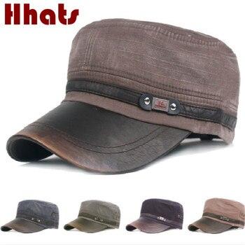 Vintage Classic Navy militar gorras algodón Unisex gorra plana ajustable  Primavera de otoño del ejército invierno sombrero visera sombrero para las  mujeres ... 417eae47aef