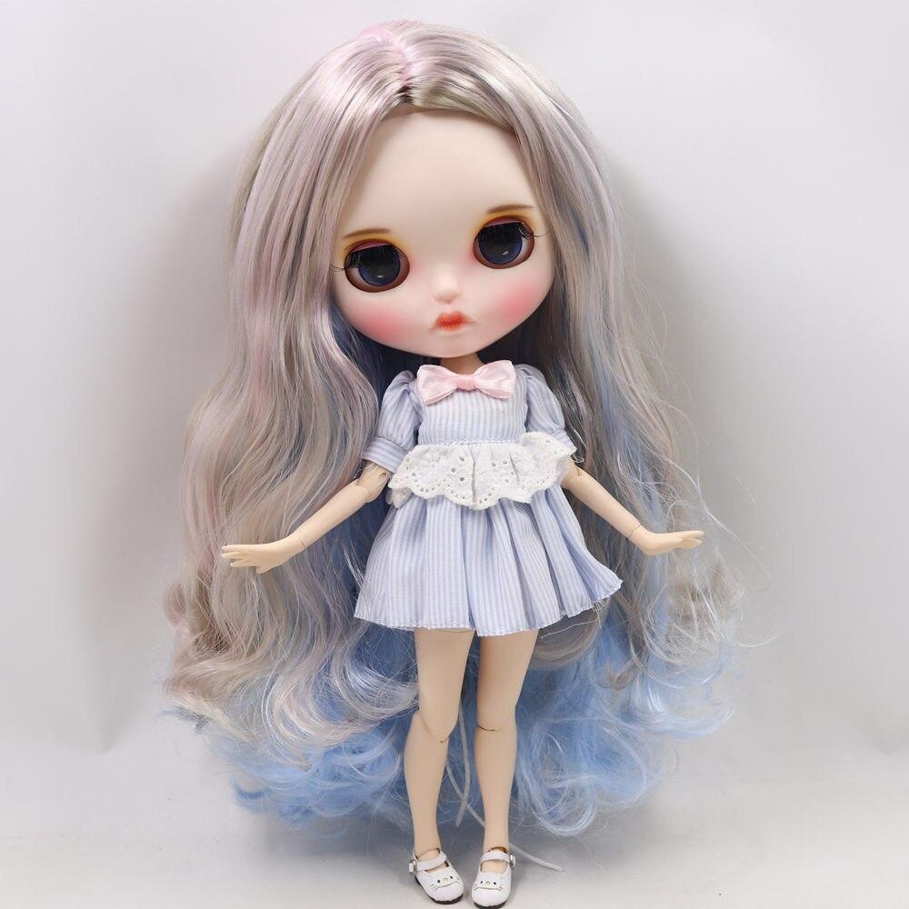 ICY Nude Blyth Doll serii, ale nie gwarantujemy poprawności wszystkich danych. BL1017/8800/6005 lodu krem do włosów kolor rzeźbione usta matowy twarzy dostosowane twarzy wspólne ciało 1/6 bjd w Lalki od Zabawki i hobby na  Grupa 3