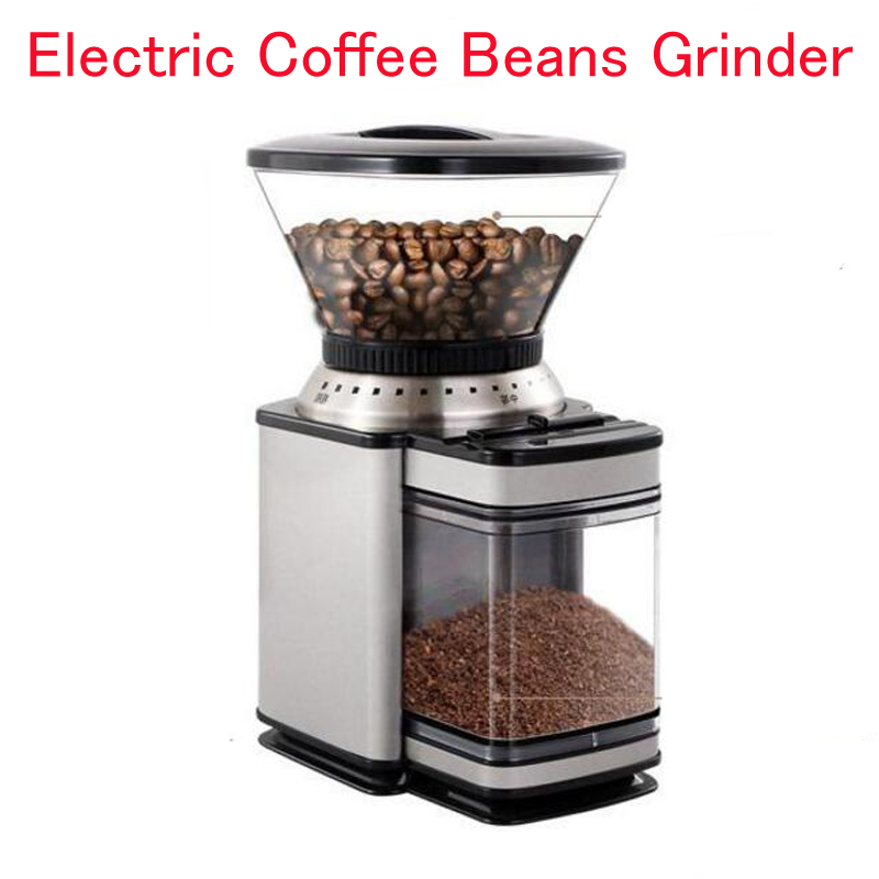 Electric Coffee Beans Grinder  Automatic Coffee Grinder Household Coffee Bean Grinding Machine 18 Grinding Gears Adjustable Fine coffee grinder cj 091 make coffee beans head towards grindinh storehouse slowly professional for precise modulation of coffee