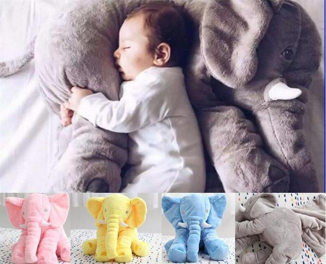 Venda QUENTE 6 Cores Elefante Macio Automotivo Do Sono Do Bebê Travesseiro Do Bebê Berço Dobrável Cama Almofada Do Assento de Carro Do Bebê Saco de Dormir