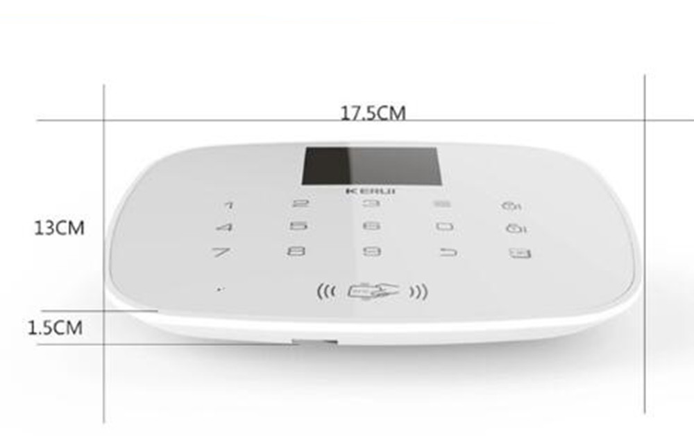 TFT Large Screen Display GSM Dialer Wireless Home Security Alarm System with RFID Tags Intelligent Switch Control