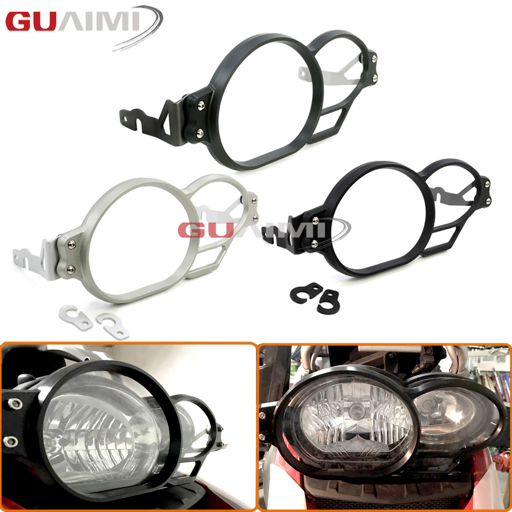 For BMW R1200GS LC 2005-2012 R1200 GS Adventure LC 2006 2007 2008 2009 2010 2011 2012 2013 Motorcycle Headlight Guard Protector motorcycle aluminum headlight grill cover case 5 3 4 black for harley xl883 04 05 2006 2007 2008 2009 2010 2011 2012 2013 2014 page 4