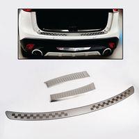 OUTSIDE + INSIDE REAR TRUNK BUMPER PROTECTOR TRIM COVER For Mazda CX-5 12-16