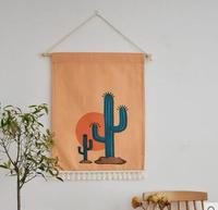 Cactus painting hanging wall tapestry Mandala Bohemian wall cloth Home home decor
