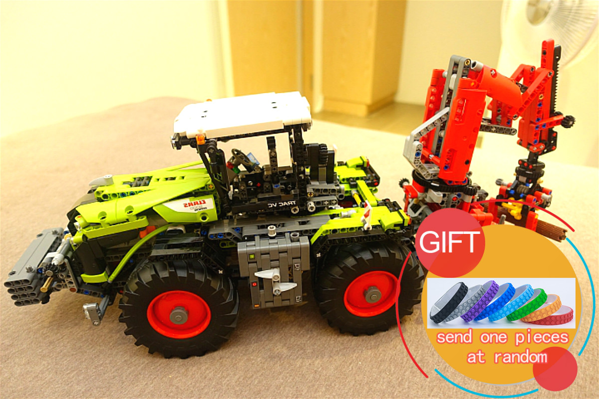 20009 1977pcs technic series The tractor Model Building blocks Compatible Toy 42054 toys lepin 2017 new lepin 20009 1977pcs technic claas xerion 5000 trac vc model building kits blocks bricks compatible toys gift with 42054
