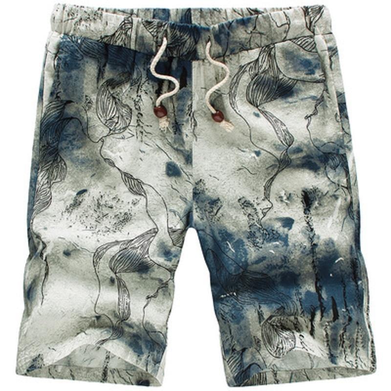 New 2017 summer fashion chinese vintage floral print shorts men high quality plus size 4xl 5xl beach shorts mens clothing/DK6