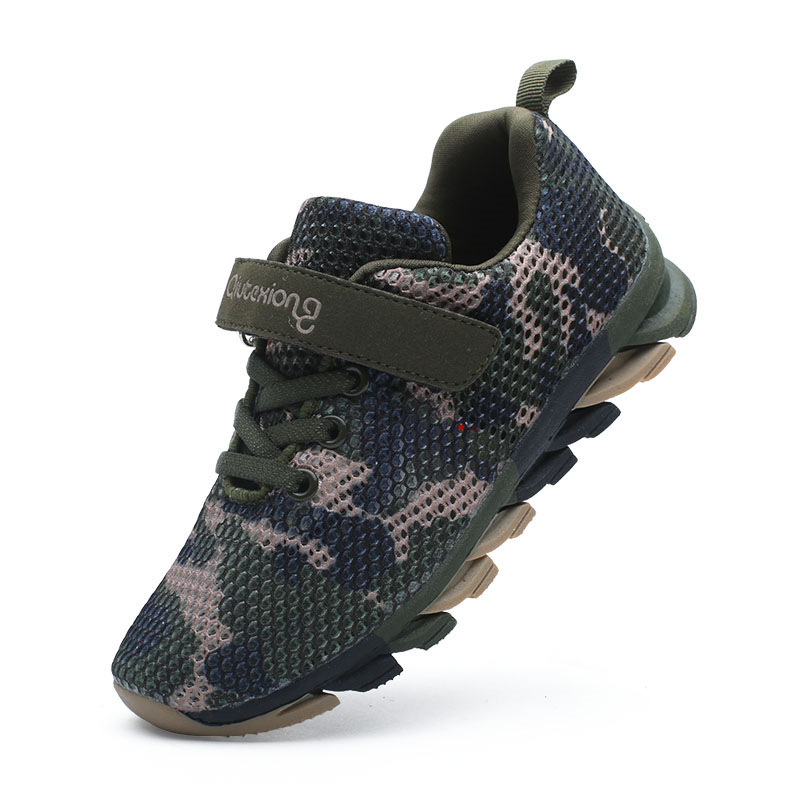 ULKNN Camouflage Running Student Trainer Comfortable Breathable Mesh Vamp Kids Sport Shoes Boys Sneakers Girls Casual Shoes