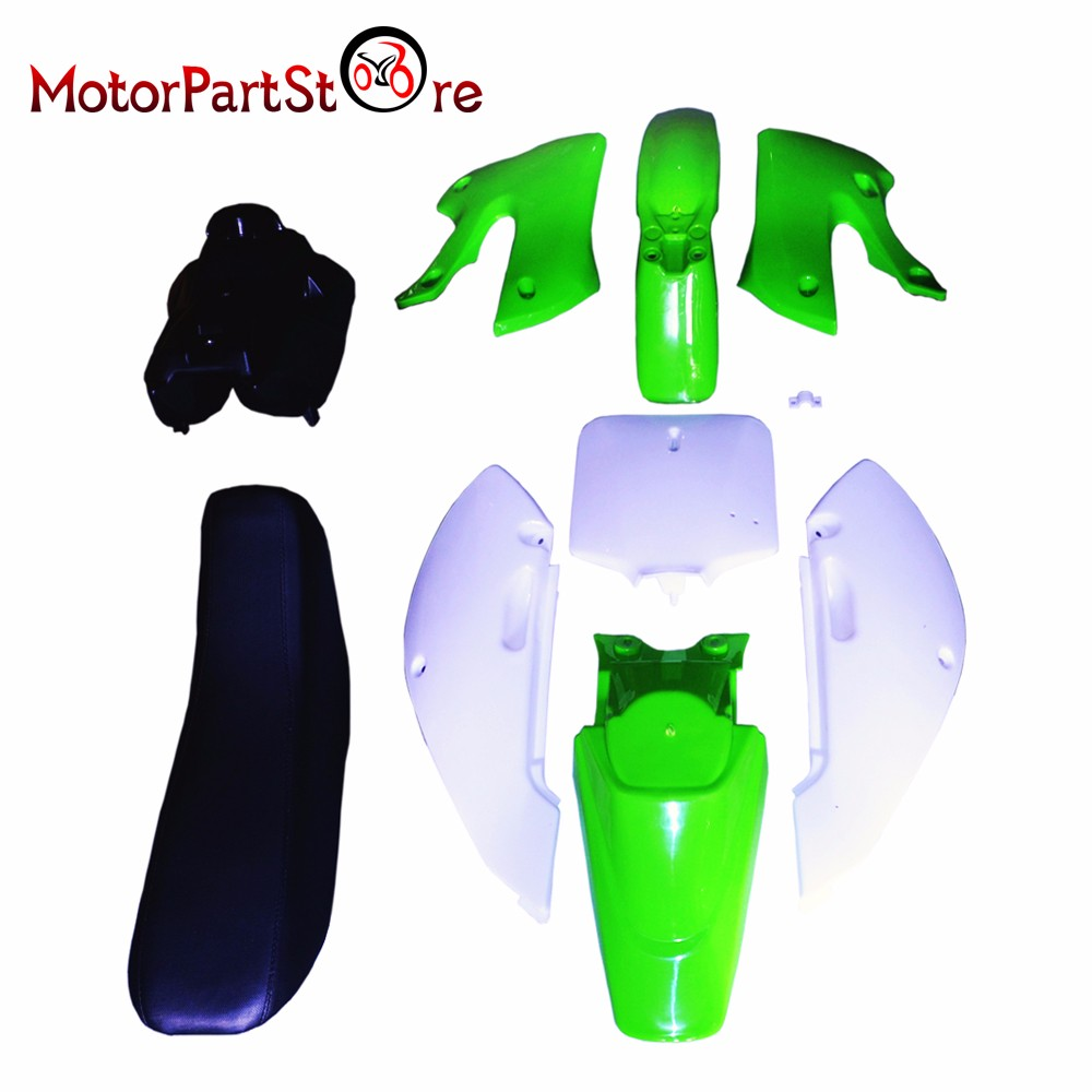 Plastic Body Fender Shell Cover Seat Fuel Tank Kit for Kawasaki DRZ KLX 110 KLX110 KX65 Motorcycle Dirt Pit Bike Part * high tech and fashion electric product shell plastic mold