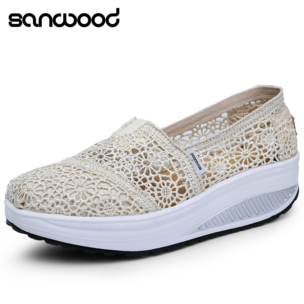 11.11 Lowest Price Women Fashion Mesh Breathable Korean Style Shake Casual Fitness Hollow Shoes Zapatos De Mujer туфли