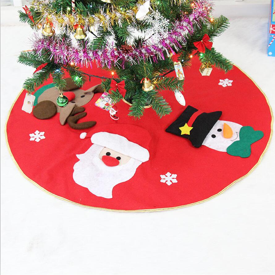Embroidered christmas ornaments - High Quality High Grade Embroidered Christmas Tree Skirt Christmas Tree Ornaments Decoration