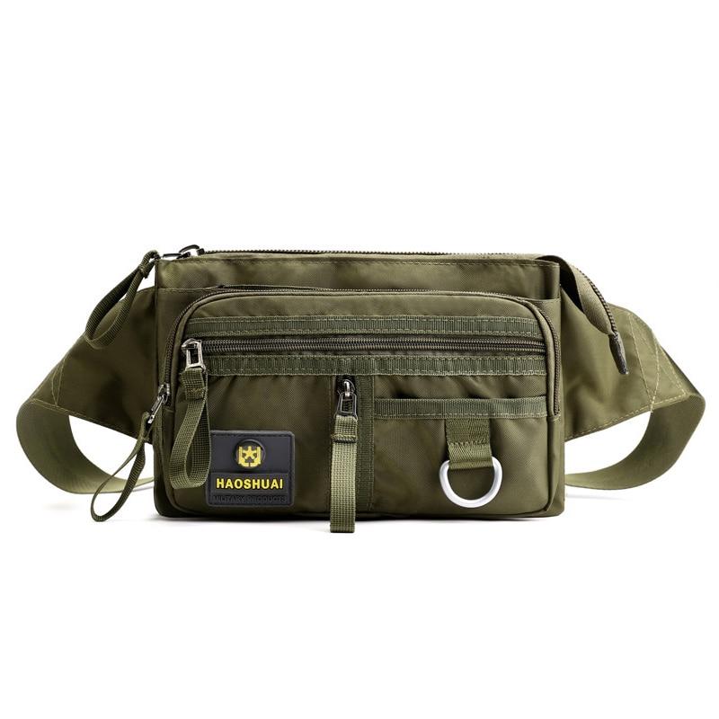 High Quality Nylon Men Belt Bag 2019 Fashion Waist Bags Military Hip Pocket Boys Bum Bag Handy Fanny Pack Travel Chest Bags Male