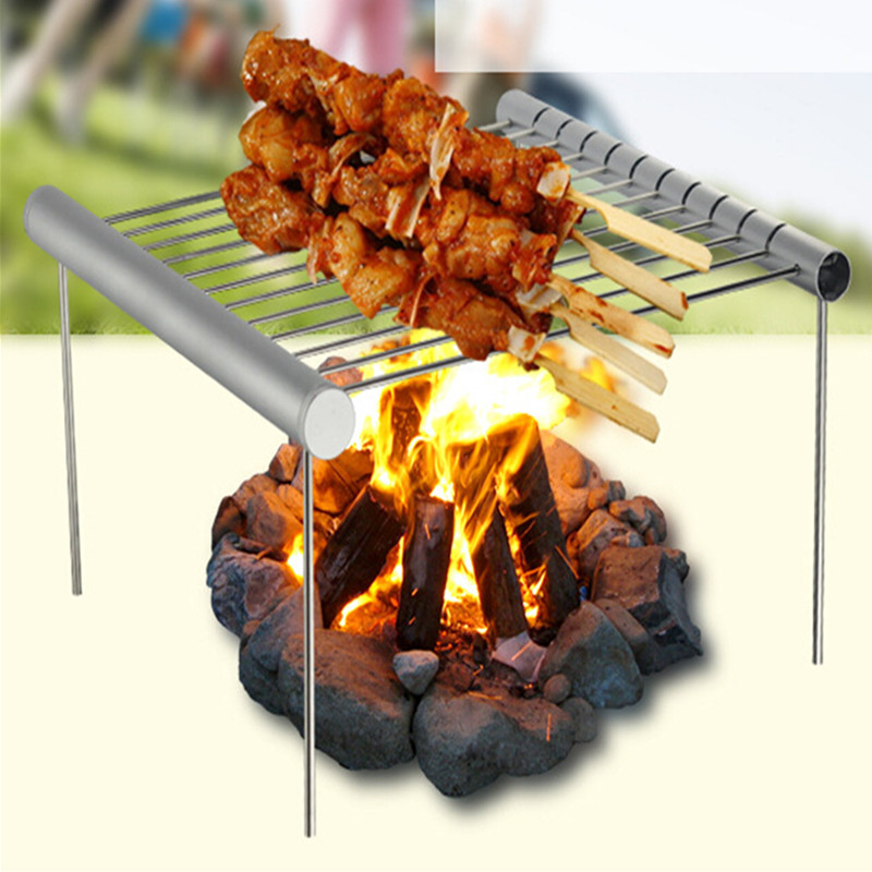 Portable Stainless Steel BBQ Grill Folding BBQ Grill Mini Pocket BBQ Grill Barbecue Accessories For Home Park Use churrasqueira de bolso