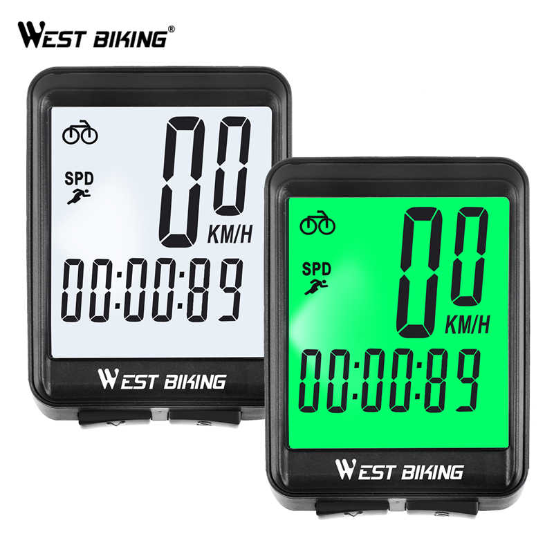 WEST BIKING Bicycle Computer Wireless Wired Cycling Computer Bicycle Speedometer LED Digital Rate Road MTB Bike Stopwatch