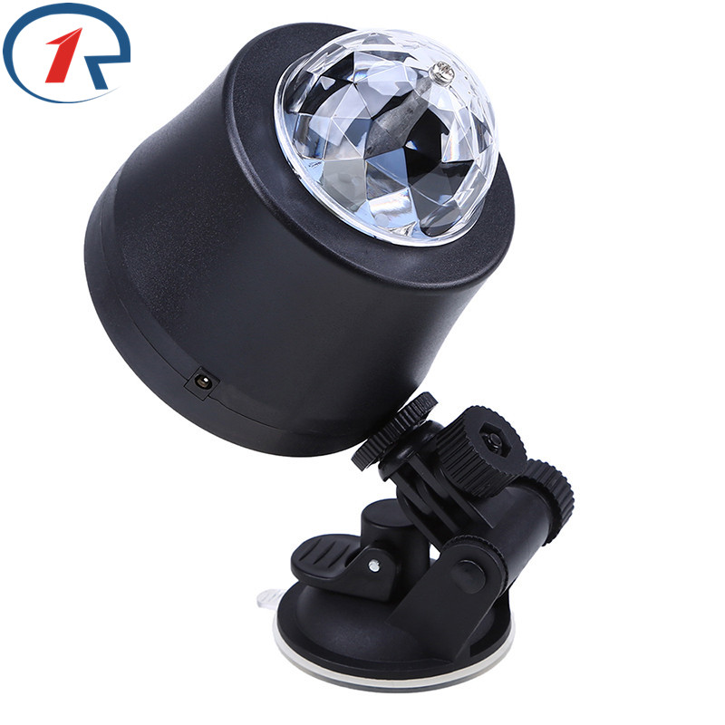 ZjRight NEW Mini LED Crystal Rotate Ball Stage Light Kid Dance Birthday Car Dj Light Holiday Xmas Halloween KTV Party Club Light