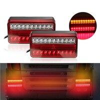 2pcs 20 LED 12V Tail Light Waterproof Car Truck Trailer Camper Van Stop Brake Rear Reverse Indicator Lights Turn Signal Lamp