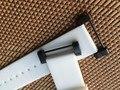 Branco 24mm suave para suunto core cinta faixa de relógio de borracha de silicone gel à prova d' água + adaptadores + ferramentas