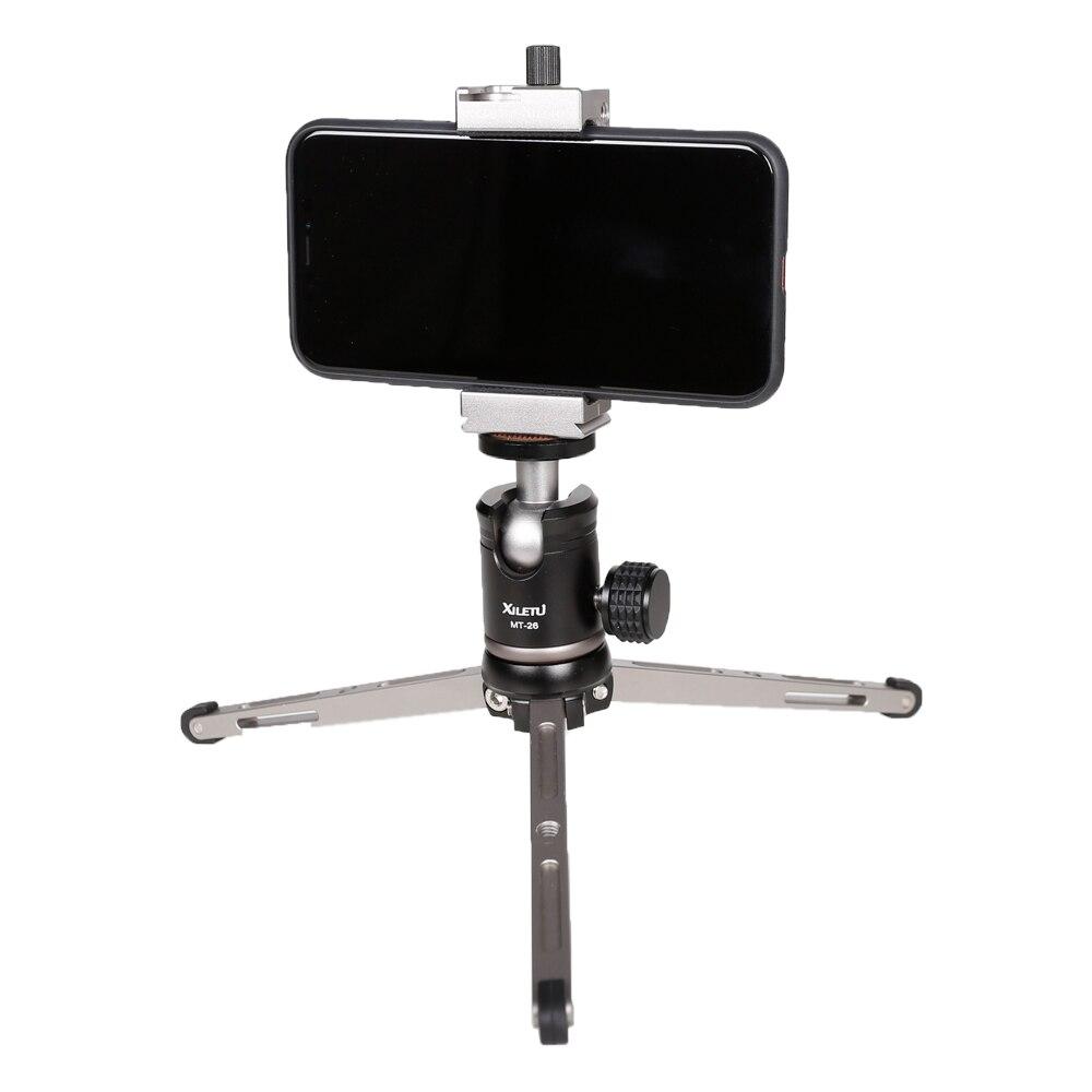 Image 5 - XILETU MT26+XT15 High Bearing Desktop Bracket Mini Tabletop Tripod and Ball Head For DSLR Camera Mirrorless Camera Smartphone-in Live Tripods from Consumer Electronics