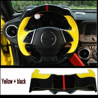 For Chevrolet Chevy Camaro 2016 2017 Sixth Leather Steering Wheel Covers Car Accessories Two Kinds Of