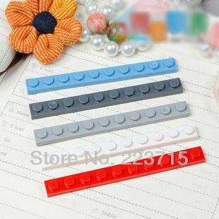 Free Shipping! 4477 50pcs*Plate 1x10* DIY Enlighten Block Bricks,Compatible With Assembles Particles