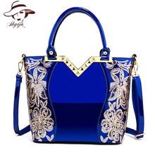 2018 lakleder schoudertas vrouwelijke avondfeest tassen merk designer handtassen grote capaciteit vrouwen lovertjes cross body tote