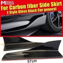 For Porsche 911 Side Skirt Body Kit Carbon Fiber Gloss Black Car Skirts Spoiler E-Style Splitters