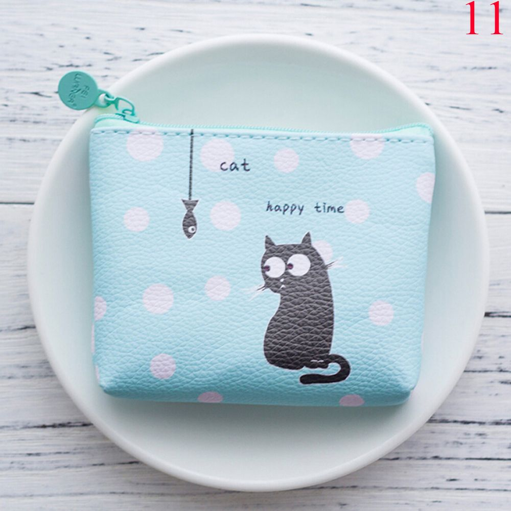 1PC Cartoon Style Mini Coin Purse Women's Waterproof Coin Purse Banana Cat Money Bags Change Pouch Wallet 13 Styles