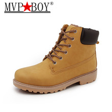 MVP BOY New Arrival Autumn Winter Men Warm Ankle Boots Fashion Male Work Shoes Lover Martin Boot Large size 36-46