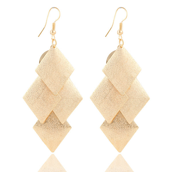 Elegant Geometric Pendant Earrings