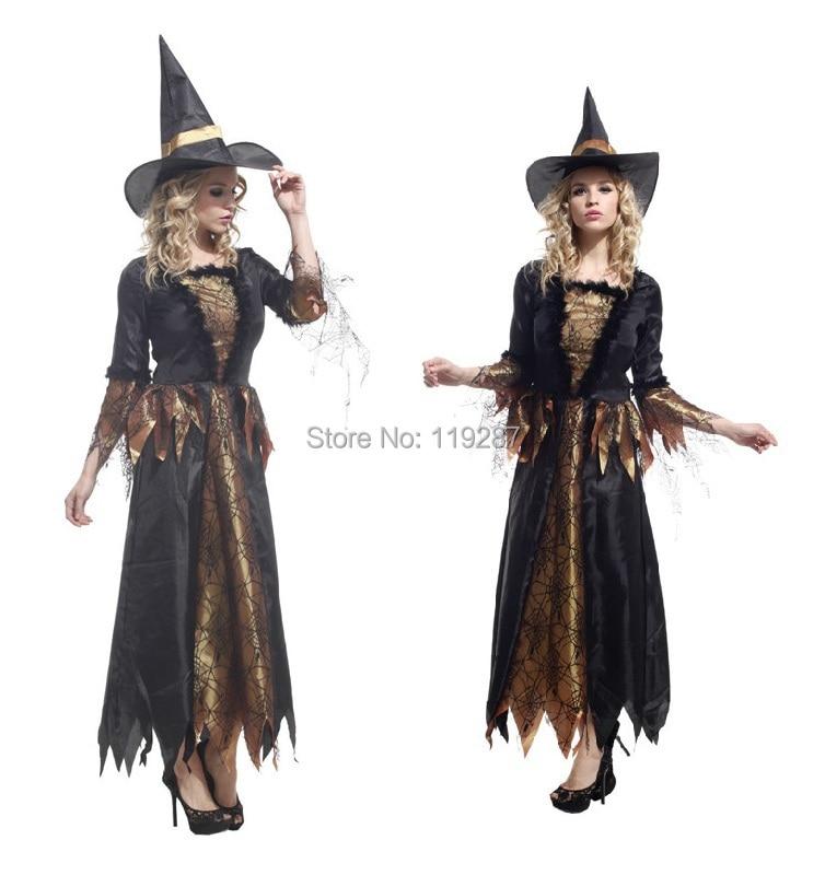 Moda adulto Halloween Masquerade Cosplay traje ropa bruja elfo mago capa de  ropa para 155-170 cm mujeres 51450eabef0