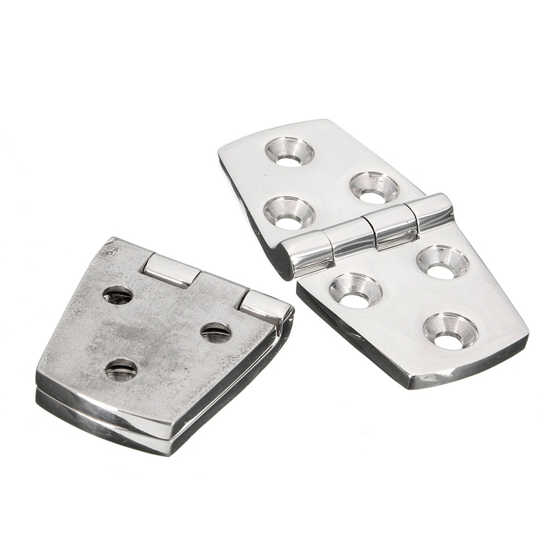 MTGATHER Silver Marine Hardware Boat Cabin Hatch Flush Door Stainless Steel Hinge Casting 316 7cm x 3.5cm Hot Sale 2pcs set stainless steel 90 degree self closing cabinet closet door hinges home roomfurniture hardware accessories supply
