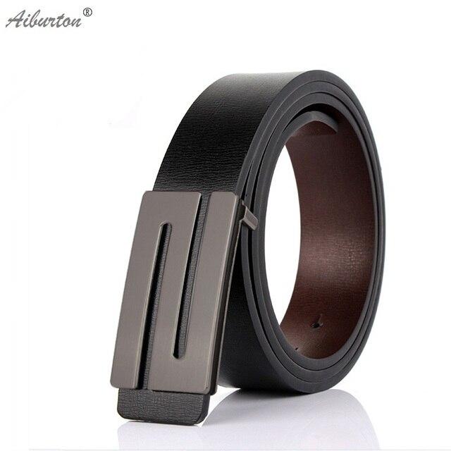 Cuero genuino masculino cinturón diseñador cinturones hombres de alta  calidad suave S hebillas breve negro Cummerbunds e75a78907c23