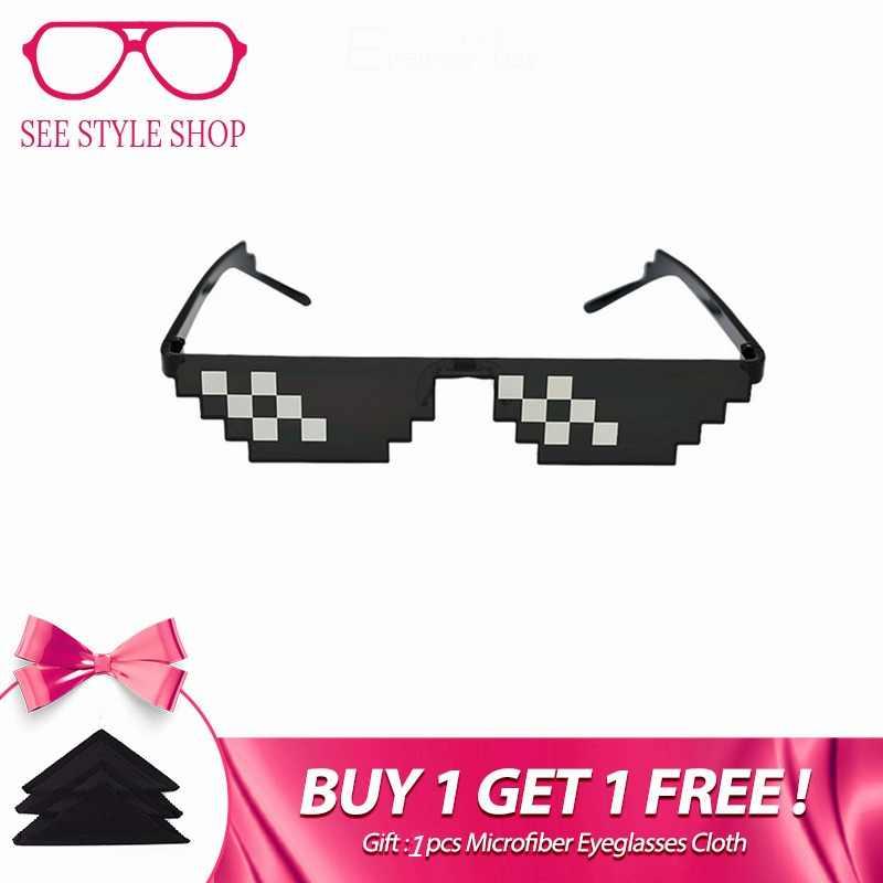 35d1626b19 Caleidoscopio gafas Pixel gafas lidiar con ello gafas de sol hombres Vida  de matón de 8