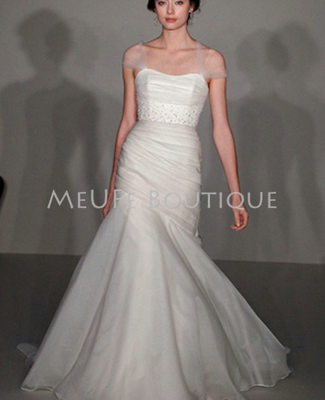 Free Shipping 2012 Strapless organza fit n flare bridal wedding gown ...