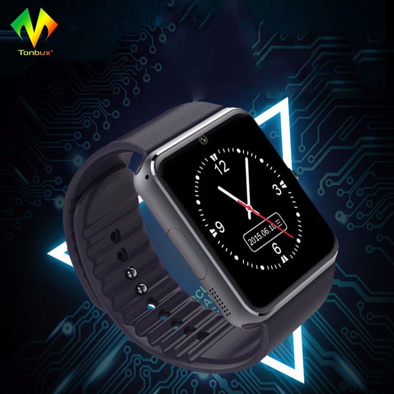 Tonbux GT08 Smart Watch Bluetooth Waterproof Wristwatch for IPhone6/7 Plus Samsung S4/Note 3 HTC Android Phone Smartphones Wear