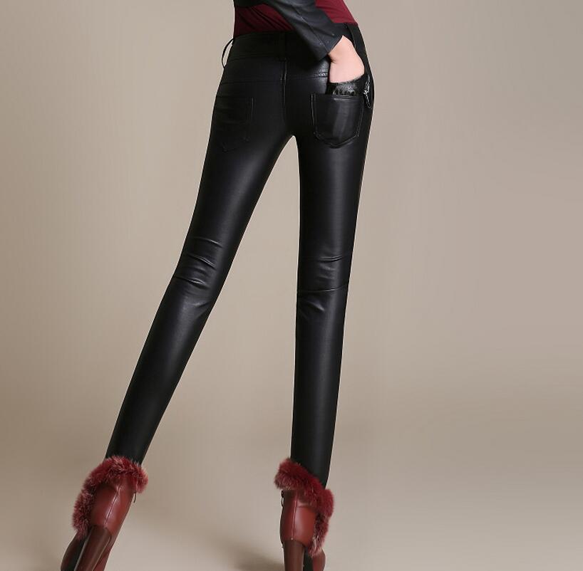 2019 Grandes Elástico Pantalones Tamaños Engrosamiento Cintura Caliente Cuero Render Alta De Xs Negro 3xl Nueva Moda Más Mujer Pequeña AHSRwnqE7x