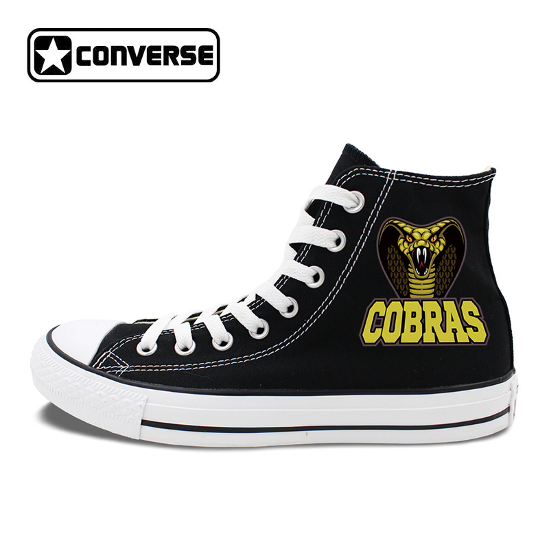 Converse Chuck Sneakers Men Women Athletic Flat Original Design Snake Naja Naja Atra Canvas Shoes High Top Skateboarding Shoes original converse women s high top skateboarding shoes sneakers