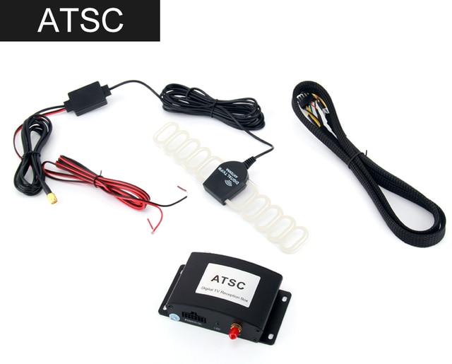 High Speed HD Car TV Tuner Mobile DVB-T T2 MPEG-4 Digital TV Receiver Box  antennas