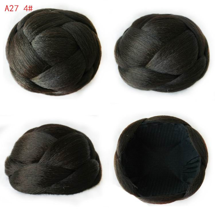 9CM Lady Chignons Buns Hairpieces Fashion Women Synthetic Bun Hairpiece Heat Resistant Chignons Knot Bob A27