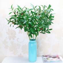 90cm Artificial Plants Olive Tree Branches Leaves With fruits for Home or Wedding Decoration Accessories