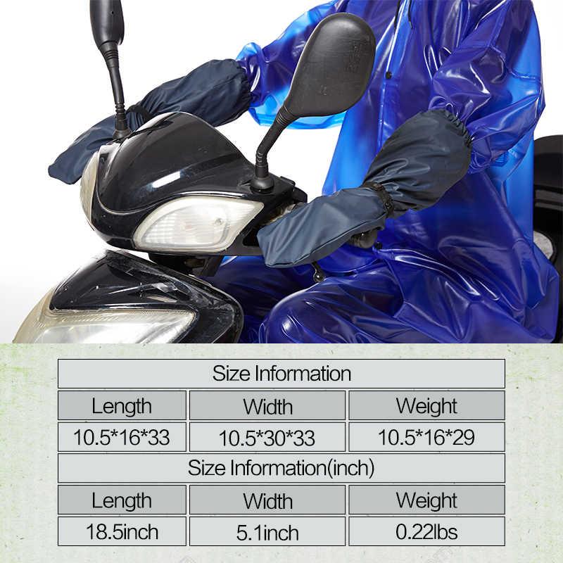 QIAN impermeable nuevo Material impermeable PU largo motocicleta bicicleta eléctrica accesorios impermeables guantes de lluvia a prueba de viento gran oferta