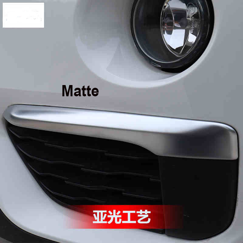 Accessories Fit for 2016 2017 BMW X1 F48 Front head fog lamp cover trim molding car styling 2pcs/set