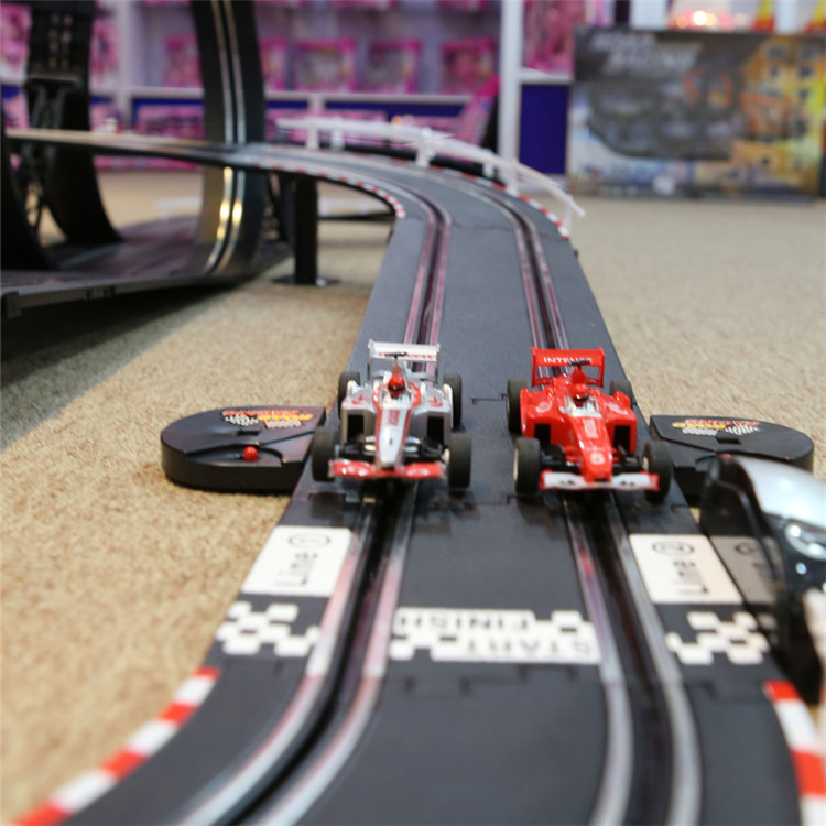 Blurred Motion Of Electric Slot Cars